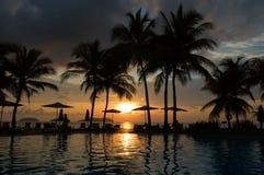 tropikalny wieczór hotel fotografia royalty free