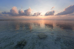 tropikalny wschód słońca Obrazy Royalty Free