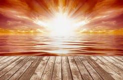 tropikalny wschód słońca ilustracji
