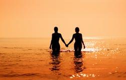 tropikalny wschód słońca Fotografia Royalty Free