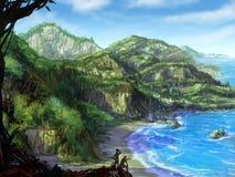 tropikalny wybrzeże ilustracja wektor
