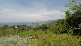 Tropikalny wybrzeże na Phuket wyspie w Thailand zdjęcie wideo
