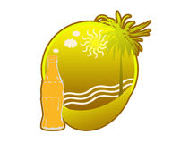 Tropikalny wyspa logo Obrazy Stock