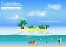 Tropikalny wyspa wektoru tło Ilustracji