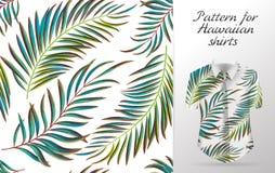Tropikalny wzór aloha wektor royalty ilustracja