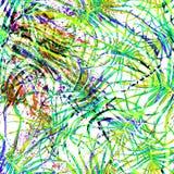 Tropikalny Zielony bezszwowy wzór ilustracji