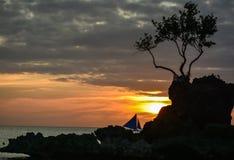 Tropikalny zmierzch Zdjęcia Royalty Free
