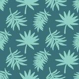 Tropikalnych liści bezszwowy wzór, nowożytna ręka rysujący natury ulistnienie Obrazy Stock