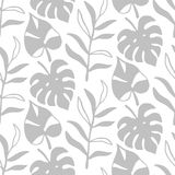 Tropikalnych liści bezszwowy wzór, nowożytna ręka rysujący natury ulistnienie Fotografia Stock