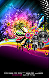 Tropilca Disco Dance Latin Music flyer Royalty Free Stock Image