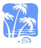 Tropiques et coquille de coque illustration de vecteur