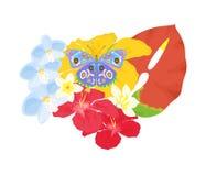 Tropiques et papillon Images stock
