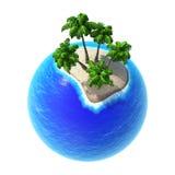 Tropiques verts 3D de planète Photos stock