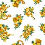 Tropisch beeld in een patroon, royalty-vrije illustratie