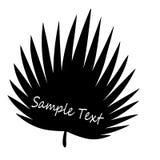 Tropisch blad - close-up Idee voor het embleem Stock Afbeeldingen