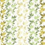 Tropisch bladerenpatroon Vector illustratie Royalty-vrije Stock Foto's