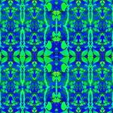 Tropisch Bloemen Geometrisch Naadloos Patroon Stock Afbeelding