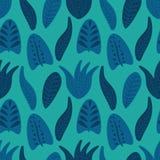 Tropisch bloemen naadloos patroon royalty-vrije illustratie