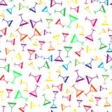 Tropisch coctail colorfull naadloos patroon royalty-vrije illustratie