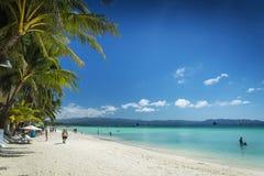 Tropisch de kustlandschap van het Boracayeiland in Filippijnen Royalty-vrije Stock Fotografie