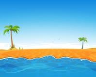 Tropisch de Zomerstrand stock illustratie