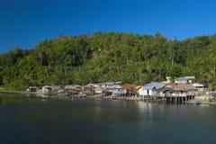 Tropisch dorp Stock Foto