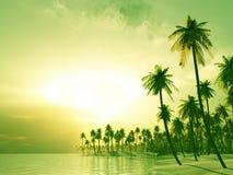 Tropisch eiland royalty-vrije illustratie