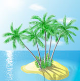 Tropisch Eiland vector illustratie