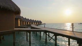 Tropisch eiland bij oceaan maldives Royalty-vrije Stock Fotografie
