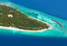 Tropisch eiland in de Maldiven royalty-vrije stock foto's