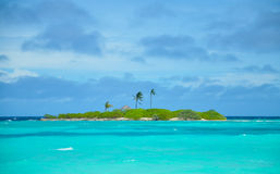 Tropisch eiland in de Maldiven Royalty-vrije Stock Afbeelding