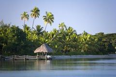 Tropisch Eiland in de Stille Zuidzee stock foto's