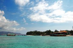 Tropisch eiland - Gili Meno, Indonesië Royalty-vrije Stock Afbeeldingen