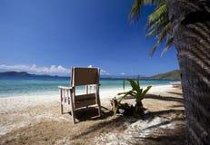 Tropisch Eiland met stoel Royalty-vrije Stock Foto