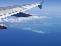 Tropisch eiland van lucht Stock Foto's