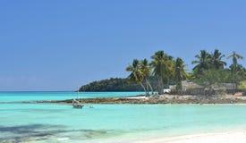 Tropisch eilandparadijs in Madagascar stock afbeelding