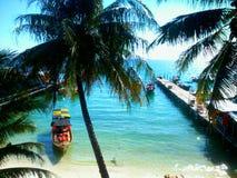 Tropisch Eilandstrand Koh Rong, Kambodja Stock Foto