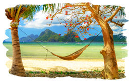 Tropisch entspannen Sie sich lizenzfreie stockbilder
