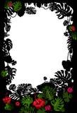 Tropisch frame met bloemen Royalty-vrije Stock Fotografie