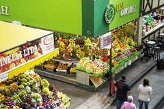 Tropisch fruit bij Sao Paulo Central Market Royalty-vrije Stock Fotografie