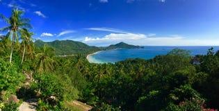 Tropisch het eilandpanorama van Koh Tao Stock Afbeelding