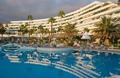 Tropisch hotel royalty-vrije stock afbeelding
