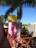 Tropisch Hotel in Merida Yucatan Mexico Stock Foto's
