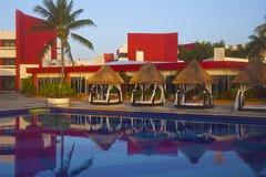 Tropisch hotel in Mexico Royalty-vrije Stock Foto