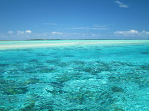 Tropisch lagunewater Stock Afbeelding