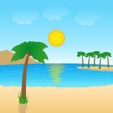 Tropisch landschap vector illustratie