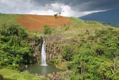 Tropisch landschap met waterval Stock Foto