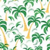 Tropisch Landschap Naadloos patroon Vectorillustratie op een witte achtergrond Monster binnen Royalty-vrije Stock Afbeeldingen