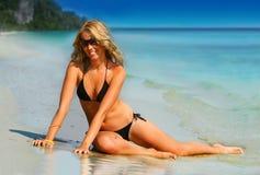 Tropisch Meisje stock afbeeldingen