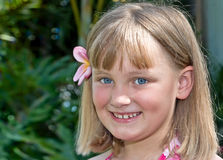 Tropisch meisje Stock Foto